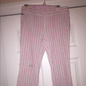 Lacoste Seersucker Cropped Pants